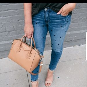 LOFT Outlet modern Skinny Jeans with dots. 14